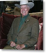 Larry Hagman Metal Print by Nina Prommer