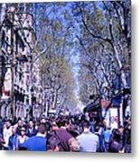 Las Ramblas - Barcelona Spain Metal Print