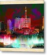 Las Vegas Bellagio Painting Metal Print