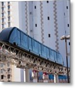 Las Vegas Monorail And Excalibur Hotel Metal Print