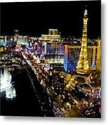 City - Las Vegas Nightlife Metal Print