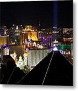 Las Vegas Night Pano Metal Print
