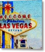 Las Vegas Sign Metal Print