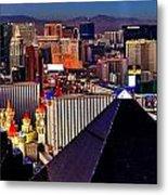 Las Vegas Sundown Metal Print