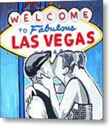 Las Vegas Wedding Metal Print by Gary Niles