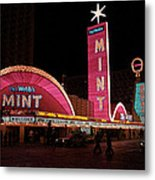 Las Vegas With Watercolor Effect Metal Print