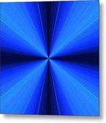 Laser Blue Light Metal Print