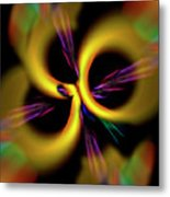 Laser Lights Abstract Metal Print
