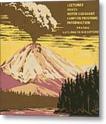 Lassen Travel Poster 1938 Metal Print