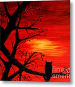 Last Leaves Of Autumn Metal Print