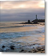 Last Light At Pigeon Point Lighthouse Metal Print