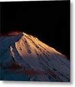 Last Rays Upon Mt Fuji Metal Print