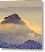 Last Sunset Light In The Clouds Metal Print