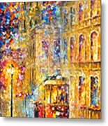 Last Trolley - Palette Knife Oil Painting On Canvas By Leonid Afremov Metal Print