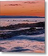 Last Waves Metal Print