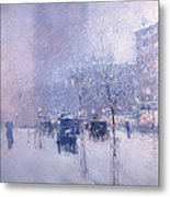 Late Afternoon - New York Winter Metal Print