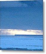 Late Afternoon Storm Antarctica Metal Print