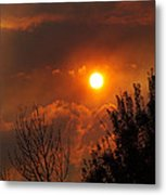Late Afternoon Sun Through Smoke And Clouds Metal Print