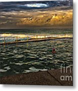 Late Afternoon Swimmer Metal Print
