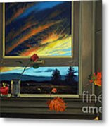 Late Autumn Breeze By Christopher Shellhammer Metal Print