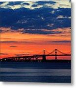 Late Evening Chesapeake Sunset Metal Print