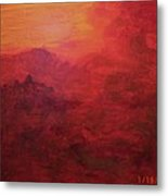 Late Evening Storm Across The Mountains Metal Print