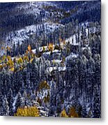 Late Fall In Vail Metal Print