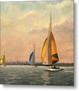 Late Finish  Featuring Dragons On The Medway Metal Print