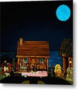 Late Flight In Color Metal Print by Leslie Crotty