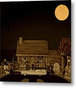Late Flight In Sepia Color Metal Print by Leslie Crotty