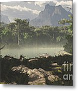 Late Jurassic East Africa With A Host Metal Print