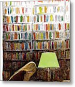 Late Night At The Library Metal Print