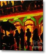 Late Night Hotdog Cart In Halifax Metal Print