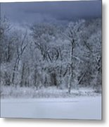 Late Snow At The Rio Grande Metal Print by Ellen Heaverlo