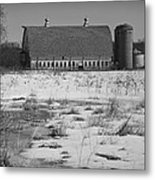 Late Winter At A Wisconsin Farm Metal Print
