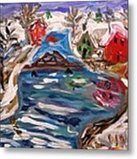Late Winter Canal-mary's View Metal Print