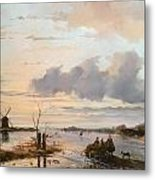Late Winter In Holland Metal Print