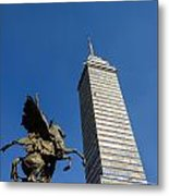 Latin American Tower And Statue Metal Print