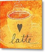 Latte Metal Print by Linda Woods