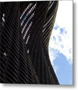 Lattice With Blue Sky And Clouds Metal Print