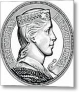 Latvia Crown Metal Print