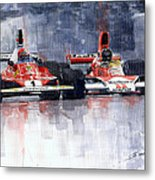 Lauda Vs Hunt Brazilian Gp 1976 Metal Print