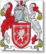 Lauder Coat Of Arms Irish Metal Print