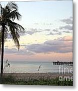 Lauderdale By The Sea Florida Sunset Metal Print