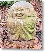 Laughing Forest Buddha Metal Print