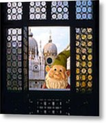 Laughing Gnome In Venice Metal Print