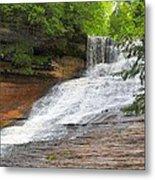 Laughing Whitefish Waterfall Metal Print