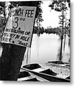 Launch Fee -bw Metal Print