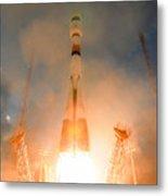 Launch Of Soyuz Vs07 2014 Metal Print