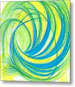 Launch Yourself On Every Wave Metal Print